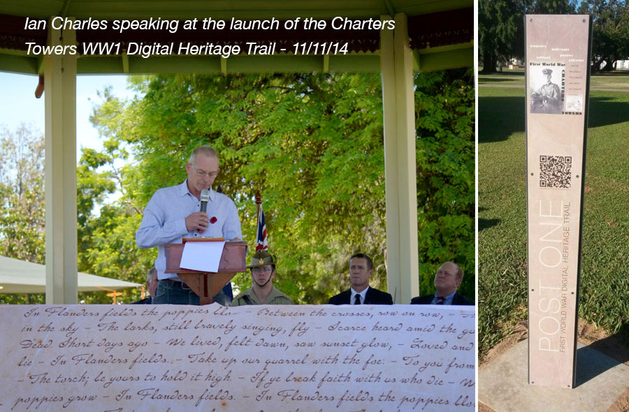 ian charles launch of charters Towers Heritage Trail