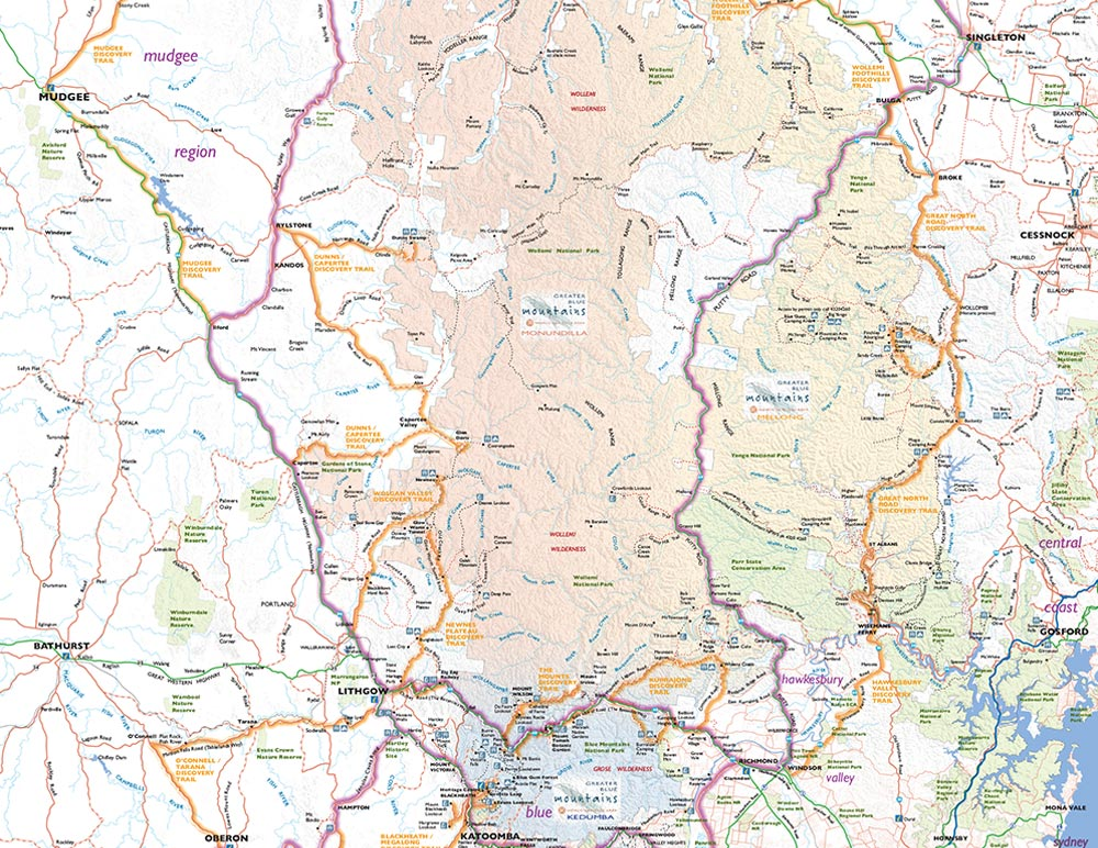 Greater Blue Mountains Drive Map