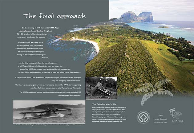 lord howe island sign