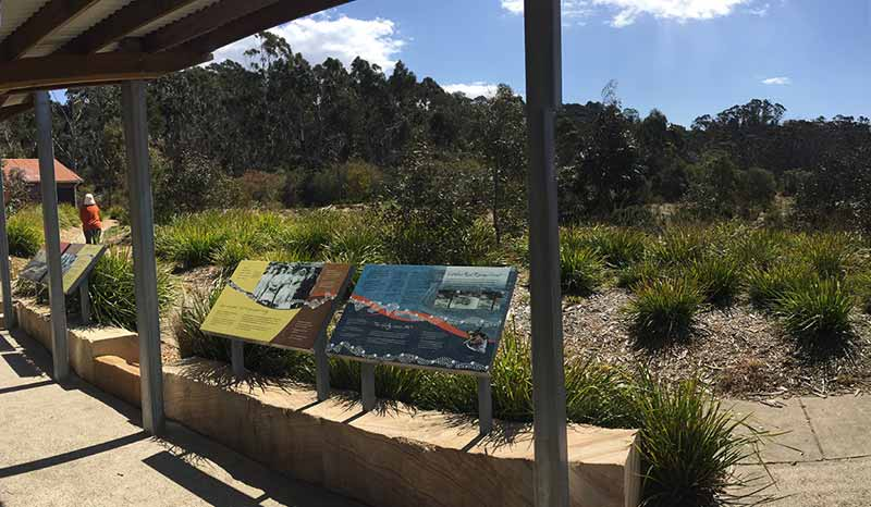 The Gully Aboriginal Place interpretive trail signage